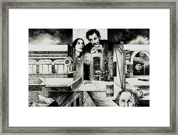 Backlane Serenade Framed Print