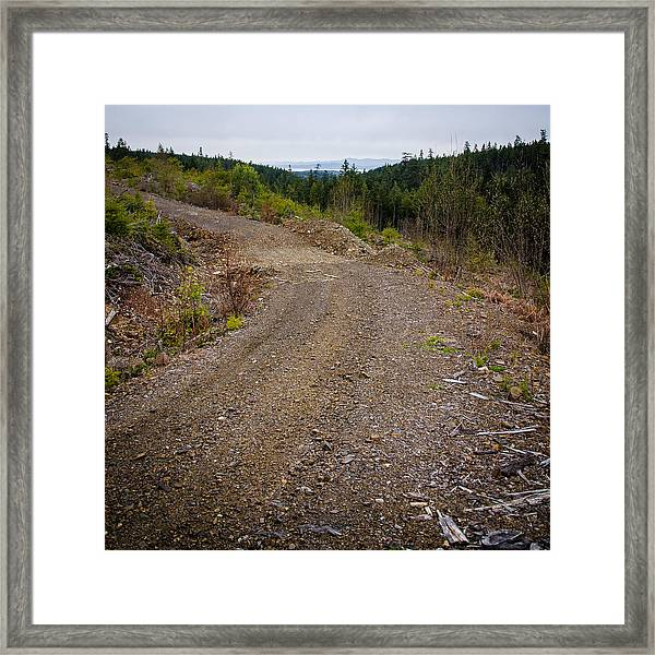 4x4 Logging Road To Adventure Framed Print