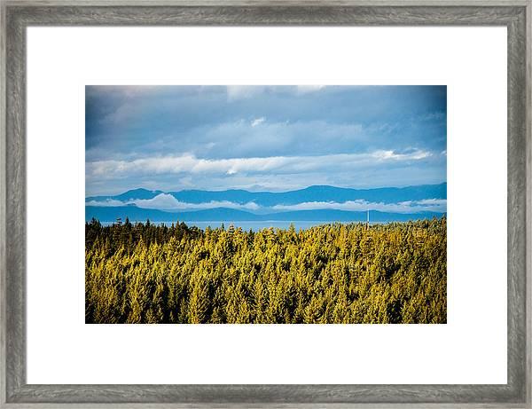 Backroad Ocean View Framed Print