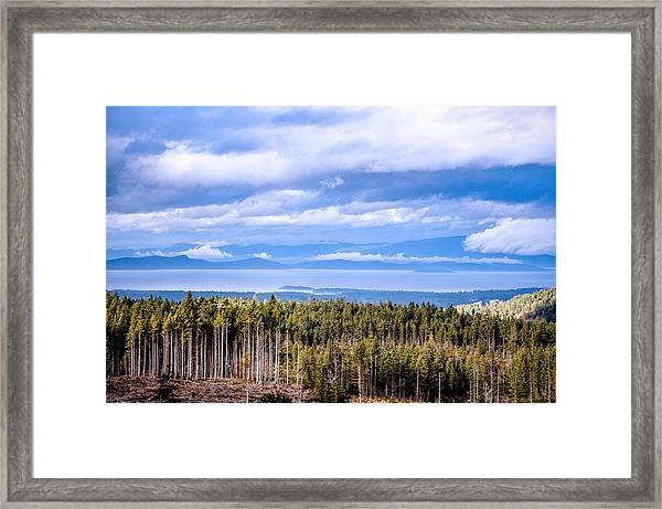 Johnstone Strait High Elevation View Framed Print