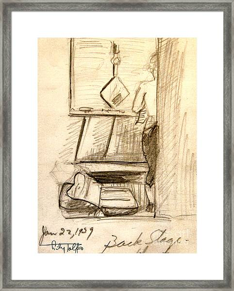 Backstage-1939- Wilmington De. Framed Print