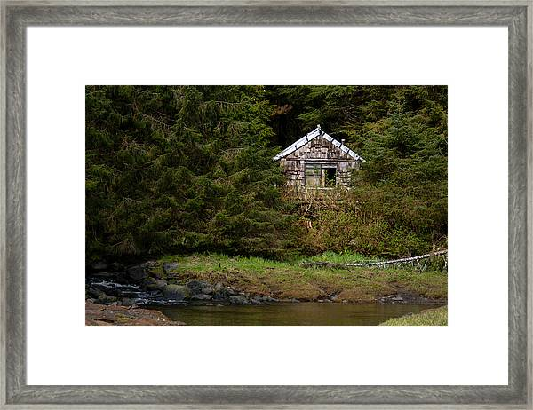 Backwoods Shack Framed Print