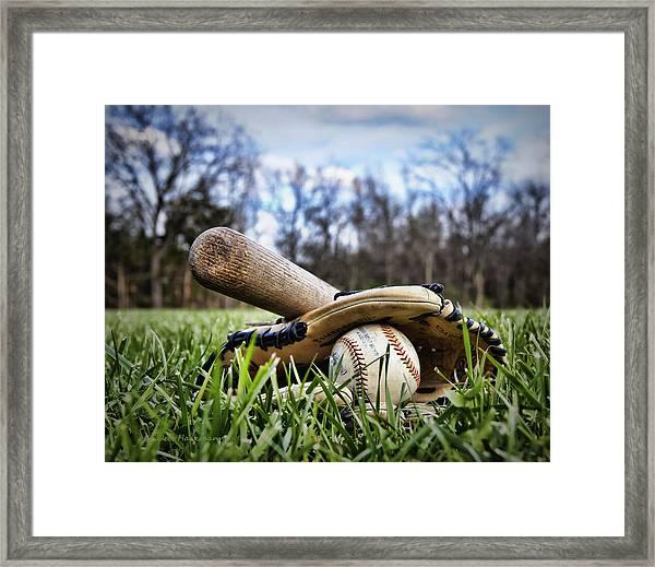 Backyard Baseball Memories Framed Print