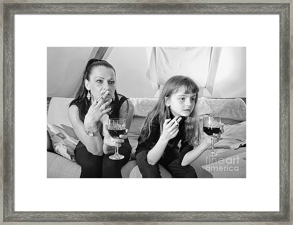 Bad Girls Framed Print