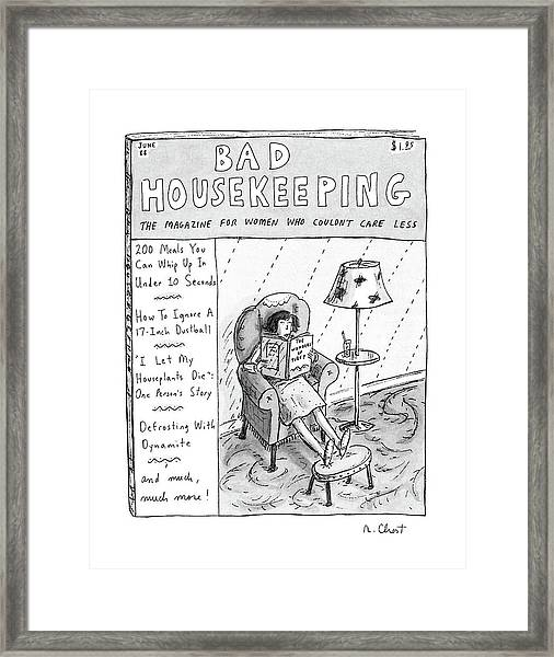 Bad Housekeeping The Magazine For Women  Who Framed Print