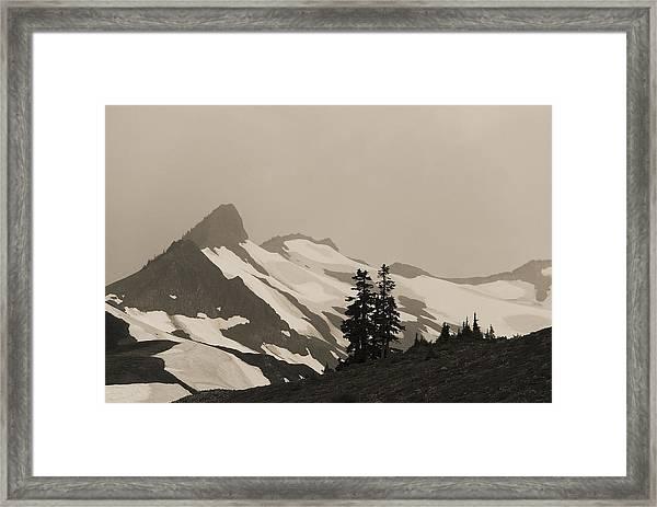 Fog In Mountains Framed Print