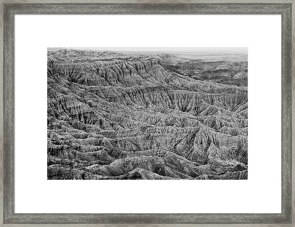 Badlands Of Great American Southwest - 3 Framed Print