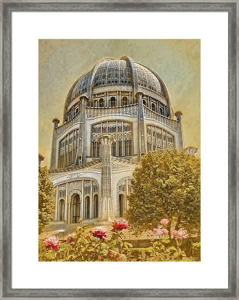 Baha'i  Temple In Wilmette Framed Print