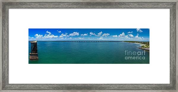 Bahia Honda Bridge Panorama Framed Print