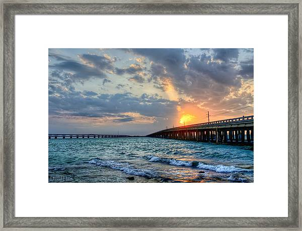Bahia Honda Sunset Framed Print