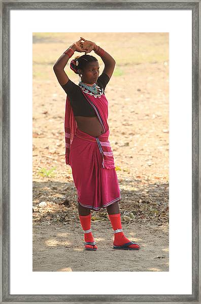 Baiga Tribal India Framed Print by Ranjan Basu
