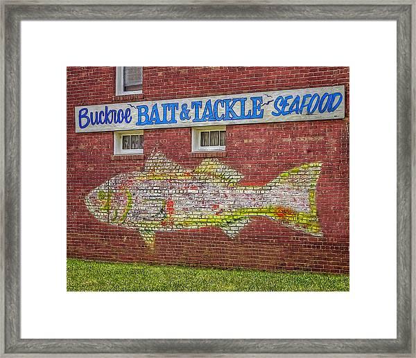 Bait Tackle Seafood Shop Detail Framed Print