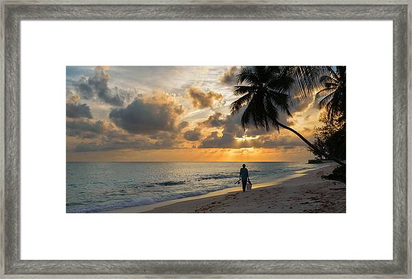 Framed Print featuring the photograph Bajan Fisherman by Garvin Hunter