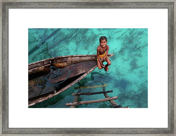 Bajau Boy Framed Print