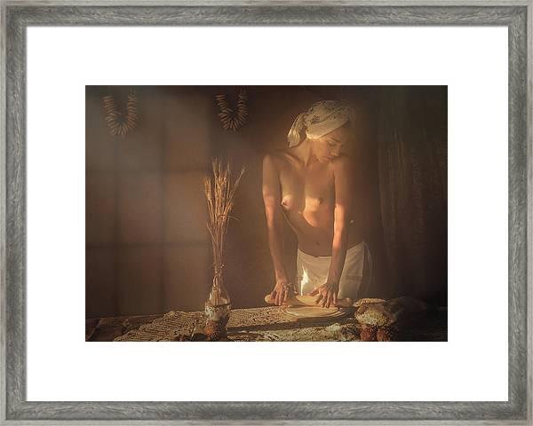 Baker Framed Print by Evgeny Loza