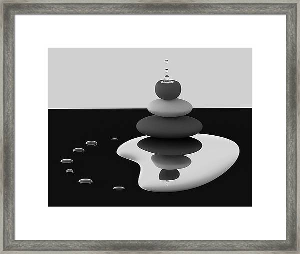Balanced Drops Framed Print by Antonyus Bunjamin (abe)