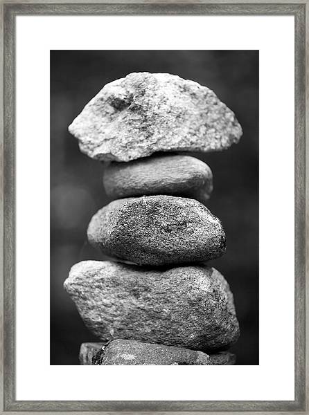 Balanced Rocks, Close-up Framed Print by Snap Decision