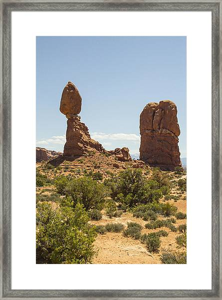Balancing Rock In Arches Framed Print