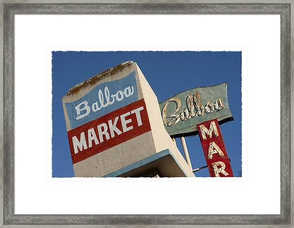 Balboa Market Framed Print