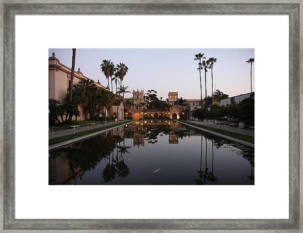 Balboa Park Reflection Pool Framed Print