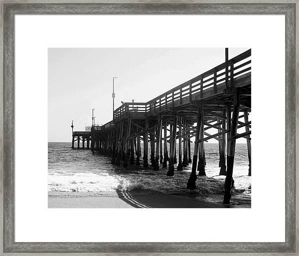 Balboa Pier Bw Framed Print