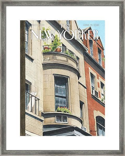 Balcony Scene Framed Print