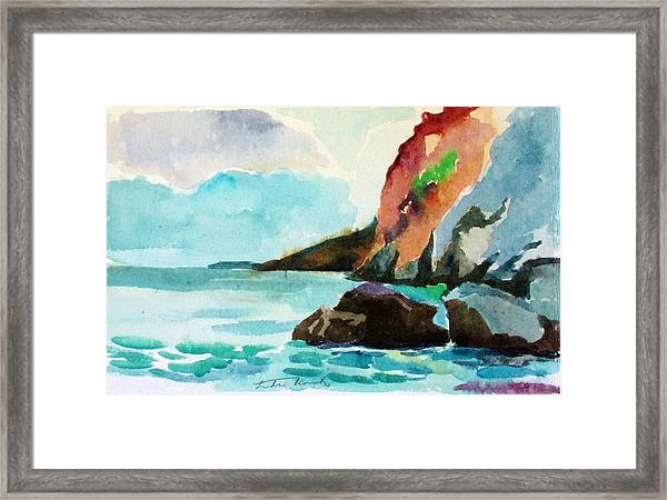 Balcony View Of Boulders Framed Print