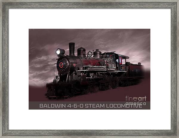 Baldwin 4-6-0 Steam Locomotive Framed Print