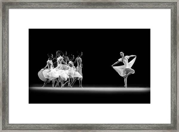 Balerina Movement Framed Print by Antonyus Bunjamin (abe)