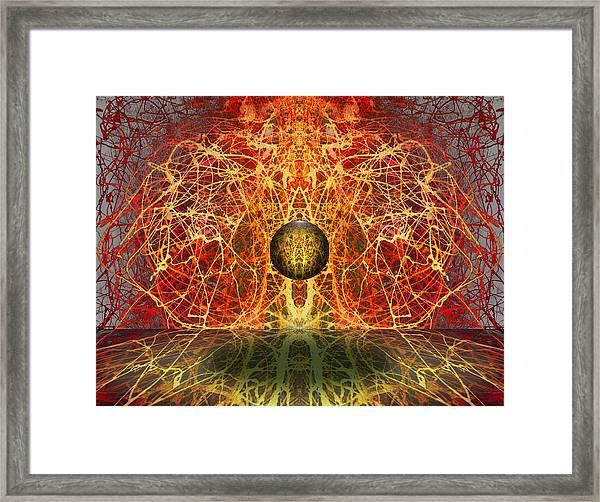 Ball And Strings Framed Print