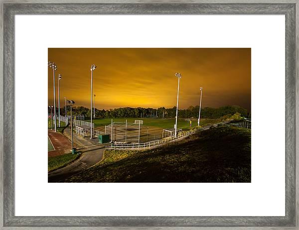 Ball Field At Night Framed Print