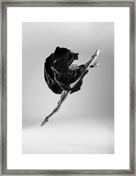 Ballerina Framed Print by Piotr Leczkowski