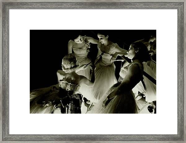 Ballerinas In Radio City Music Hall Framed Print