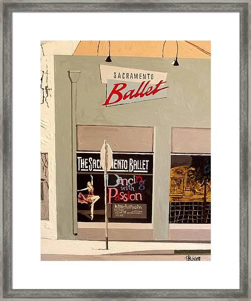 Ballet On K Framed Print by Paul Guyer