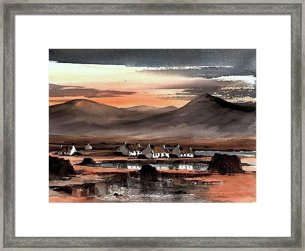 Connemara Sunset Galway Framed Print