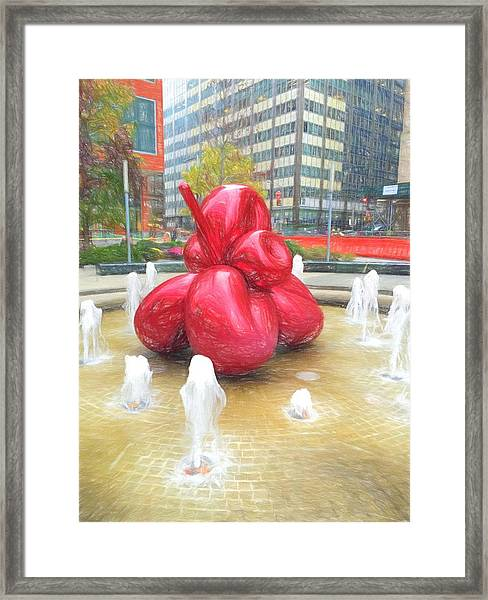 Balloon Flower In The Water Framed Print