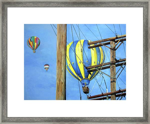 Balloon Race Framed Print