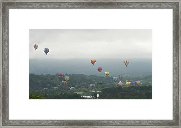 Balloon Rise Over Quechee Vermont Framed Print