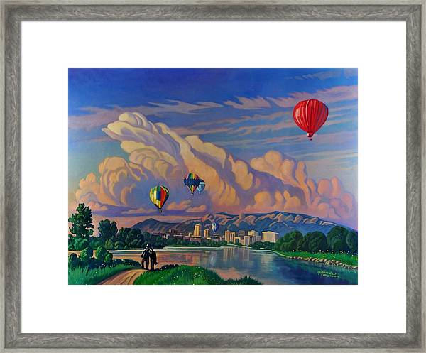 Ballooning On The Rio Grande Framed Print