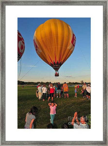 Balloons And Toons Framed Print