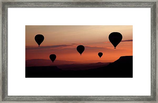Balloons Framed Print by Engin Karci