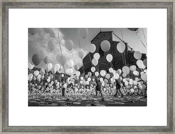 Balloons For Charity Framed Print by Giorgio Lulli