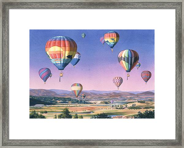Balloons Over San Dieguito Framed Print