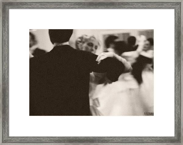 Ballroom Dancers Viennese Waltz Framed Print