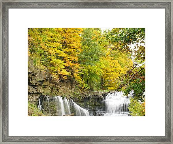 Balls Falls In Autumn Color Framed Print