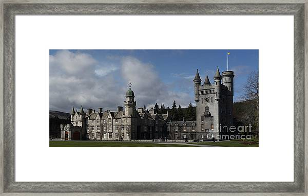 Balmoral Castle In A Closeup Panorama Framed Print