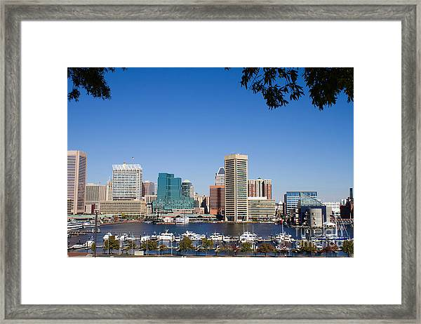 Baltimore Harbor Skyline Framed Print