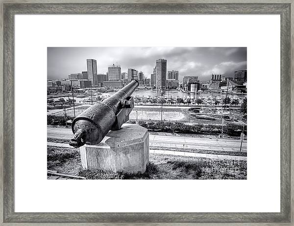 Baltimore Inner Harbor Skyline Framed Print