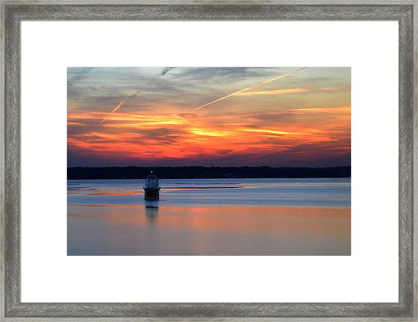 Baltimore Light At Gibson Island Framed Print