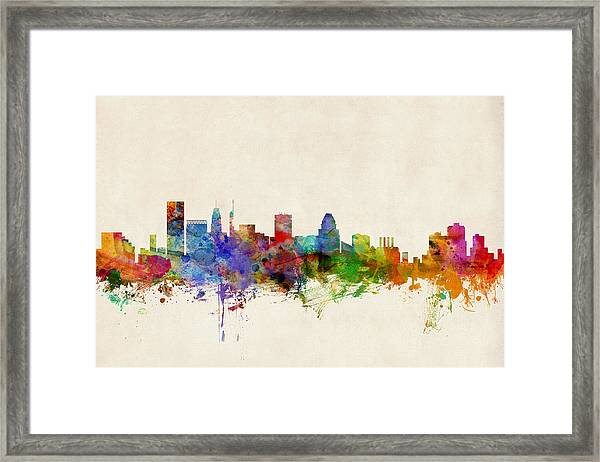 Baltimore Maryland Skyline Framed Print